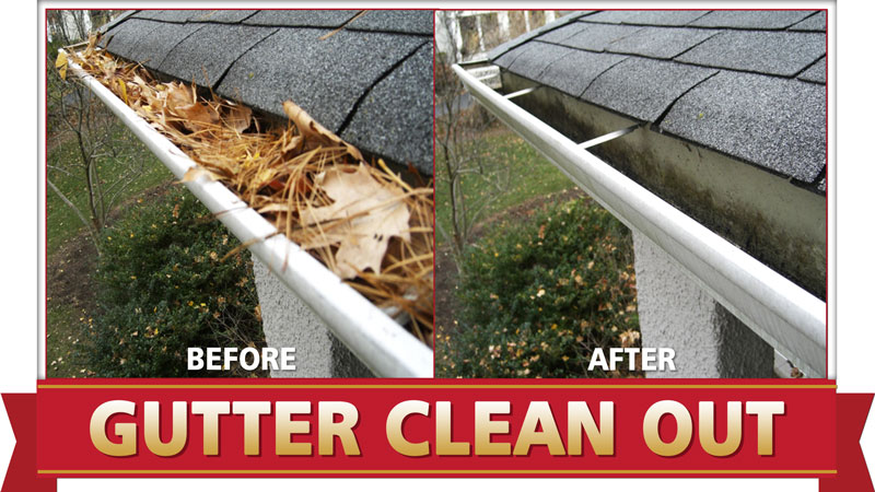 Surrey Gutter Cleaning before and after